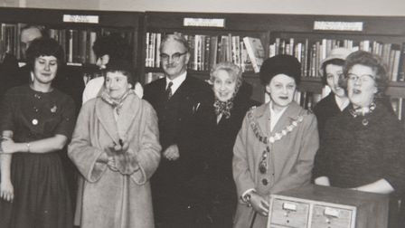 Yvonne Stocks, who was head of the towns library for three decades. Picture: Courtesy of Elaine Stoc
