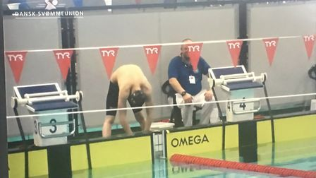 Jordan Catchpole at the Para Swimming World Series in Copenhagen. Picture: Courtesy of Claire Brierl