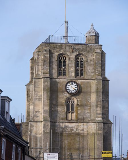 Beccles Bell Tower viewed from Ballygate.Picture: Nick Butcher