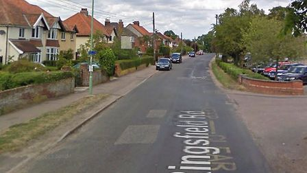 A stolen motorcycle was set on fire in Ringsfield Road, Beccles, during the early hours of the morni