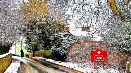 The 'Beast from the East' has arrived in Bungay. Photo:Candy Kourakos.