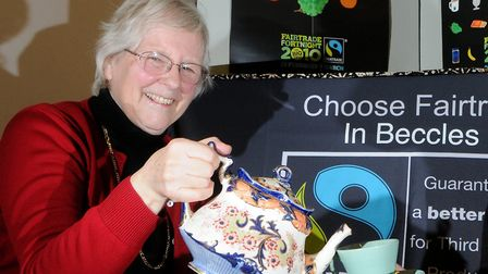 Wendy Moxon, chairman of the Beccles Fairtrade Committee. Picture: Archant library.