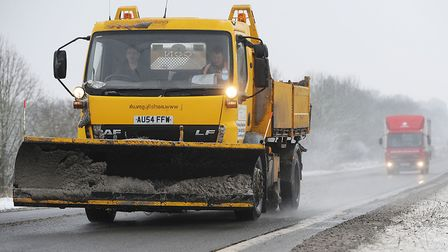 Gritters are working the clear the A144. Picture: Ian Burt