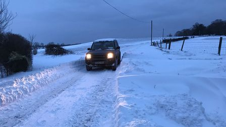 The team from Old Hall Farm braved treacherous conditions to deliver essentials to those in need. Ph