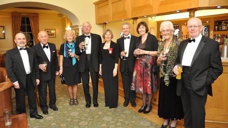 Club president John Warburton and the dinner guests at his table, who include Dame Lin Homer, Michae