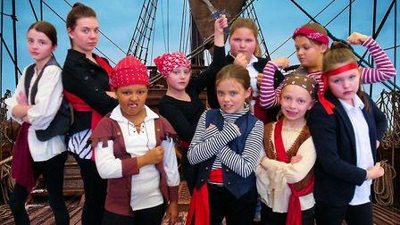 Youngsters rehearsing for the upcoming Treasure Island performance.Photo: Helen Steed.