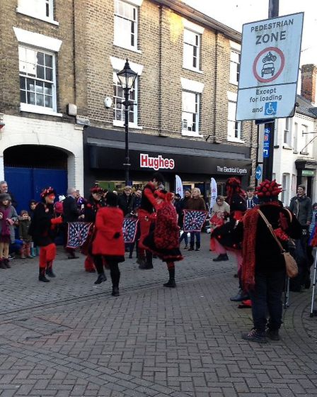 Oxblood Mollies dancing in Halesworth. Pictures: Courtesy of Winterlight!