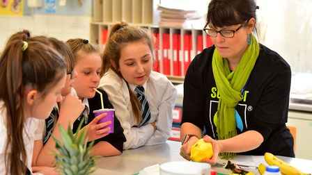 A Fairtrade Fortnight event held at the Sir John Leman High School in Beccles last year. Picture: Ni