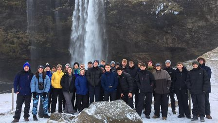 Pupils from Bungay High School Sixth Form during a recent visit to Iceland. Photo: Bungay High Schoo