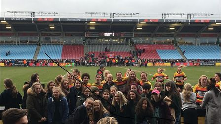 Members of Beccles Girls Rugby Club visited Twickenham Stoop. PICTURE: Amy Wones