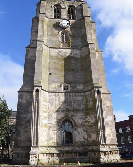 The refurbished clock tower at Beccles. Picture: DENISE BRADLEY