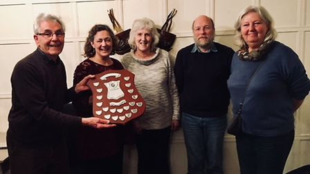 The K9 crew from Three Rivers triumphed at the annual Talking Newspapers Quiz Night. Photo courtesy