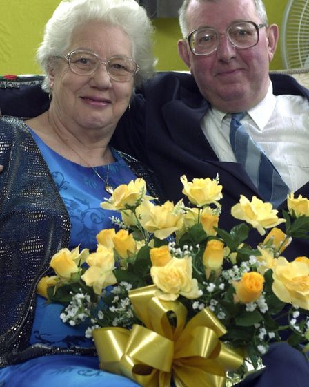 Ray Bartram and his wife Dorothy on their golden wedding anniversary. Picture: Archant library.