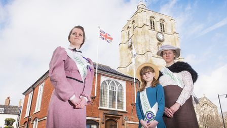 Elfrede Brambley-Crawshaw, her daughter Matilda and Caroline Topping, who are organising an event in