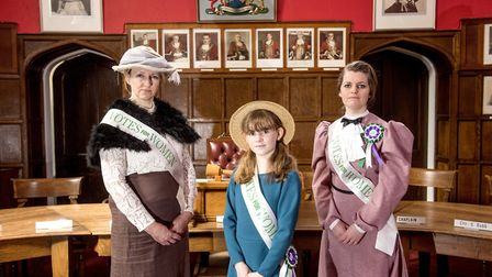 Caroline Topping and Elfrede Brambley-Crawshaw, with her daughter Matilda, who are organising an eve
