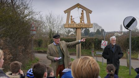 The sign was inaugurated at a ceremony last week. PICTURE: Courtesy of Kirby Cane and Ellingham Pari
