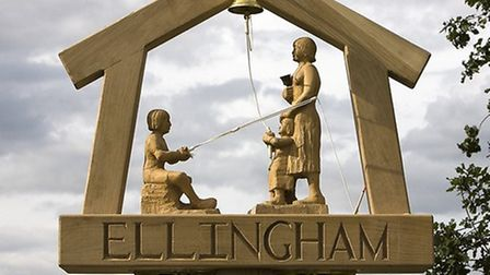 The sign. PICTURE: Courtesy of Kirby Cane and Ellingham Parish Council