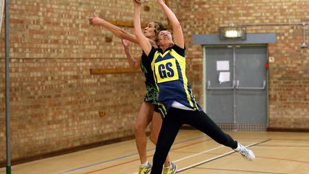 Beccles Hawks in a previous match against Vintage Vinyl. Picture: Steve Wood.