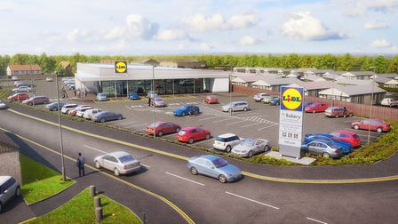 Proposed plans for the new Lidl store in Common Lane North, Beccles have been approved. Picture: Lid
