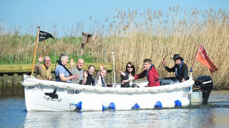 The Big Dog Ferry runs trips between Beccles Lido and Geldeston Locks. Picture: Nick Butcher.