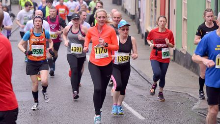 Bungay 2018 Festival of Running.Start of the 10k race.Picture: Nick Butcher