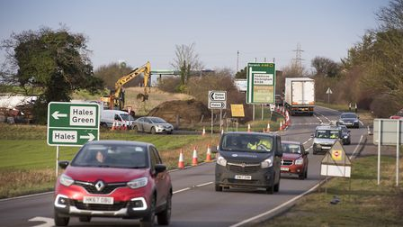 Work got under way on the £1.6m project to improve the Hales junction on the A146 back in January. P