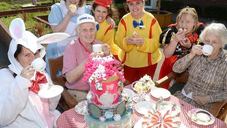 Britten Court Care home hosted a Mad Hatter's Tea Party for Care Home Open Day. Photo courtesy of Br