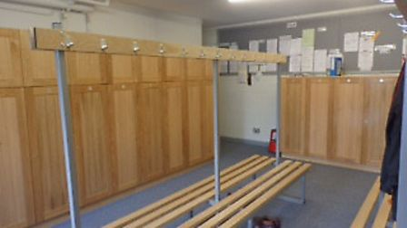 The new lockers. Picture supplied by golf club