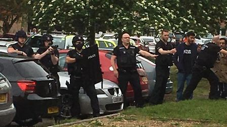 Armed police were called to Garden Close in Bungay. Picture: Submitted