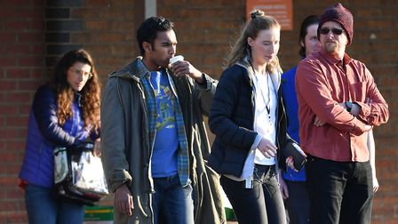 Former Eastenders actor Himesh Patel (second left) during the shooting of a scene for Danny Boyle's