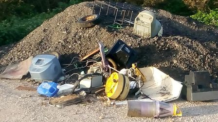 Flytipping on Beccles Common last week. Picture: Max Billie Gibbs