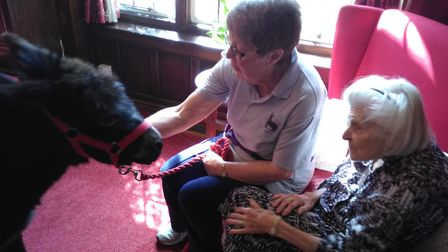 A volunteer at Brooke House care home with Wendene Fluellen. Picture: Courtesy of Brooke House