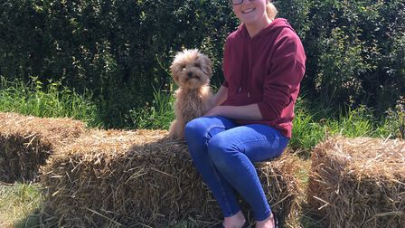 Gemma Waterman with her dog, Barley. Picture: Thomas Chapman