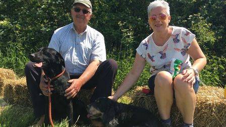 Roy Dunning and Janna Hicks with Titch and Freddie. Picture: Thomas Chapman