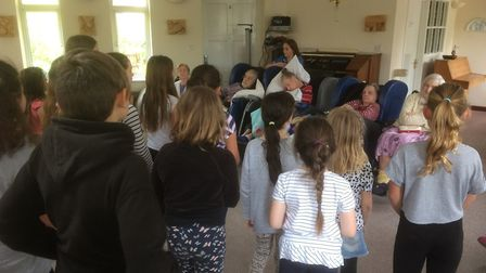 Bungay''s Fisher Youth Theatre Group (FYTG) performed songs from 'The Wizard of Oz' at All Hallows C