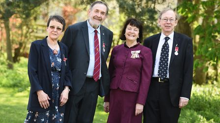 From left, Alison Evans, Roy Tricker, Lady Clare and James Manning. Picture: GREGG BROWN