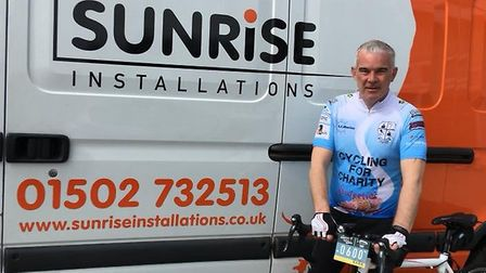 Mark Carter is taking on eight charity rides this year. Picture: Courtesy of Mark Carter.