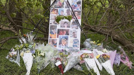 Flowers have been laid at the scene where Daniel Blowers was killed in a two-car crash on Saturday n