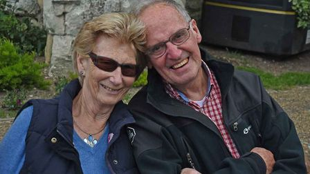 Pat Rennie is set to take on a 120-mile charity walk in memory of her husband, Bud. Picture: Courtes