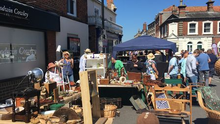 Thousands of people flocked to Beccles for the Antiques Street Market. Picture: Conor Matchett