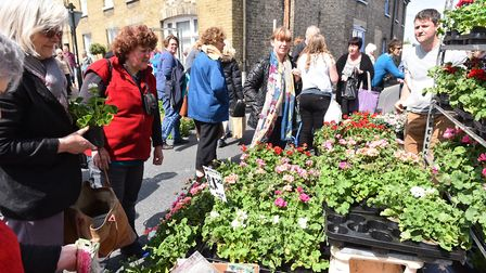 A previous garden street market held in Bungay. Picture: Archant.