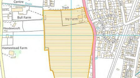 Hopkins Homes have revealed plans to build 280 new homes in Beccles. Image courtesy of Waveney Distr