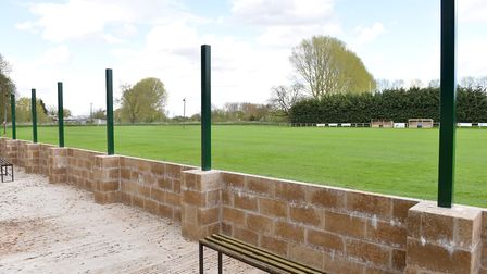 Building work is nearing completion on the new stand at Beccles Caxton FC. The stand is in memory of