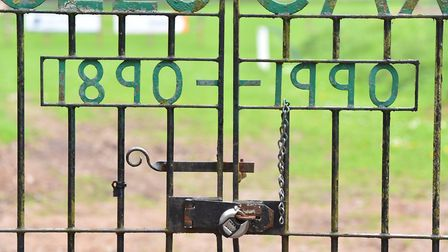 Guess Beccles photo quiz.Gates to Beccles Caxton FCPicture: Nick Butcher