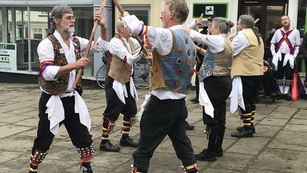 Holt Ridge performing in Bungay to mark the 10th anniversary of Rumburgh Morris. Picture: Amy Smith