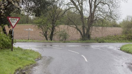 The junction of Elms Road and Beccles Road in Aldeby.Picture: Nick Butcher