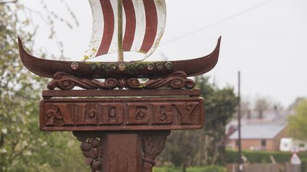 The village sign in Aldeby. Picture: Nick Butcher.