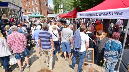Visitors enjoying Beccles Food and Drink Festival in a previous year. Picture: Archant.