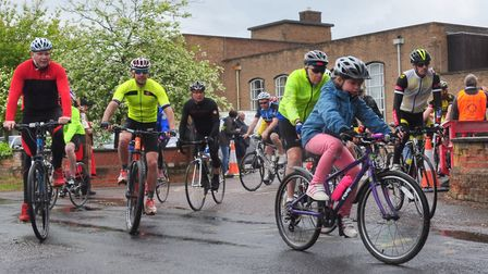 Some of the riders setting off at last years 16th annual Beccles Cycle for Life charity ride. Pictur
