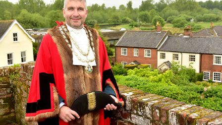 Mayor of Beccles Richard Stubbings. Picture: Nick Butcher.